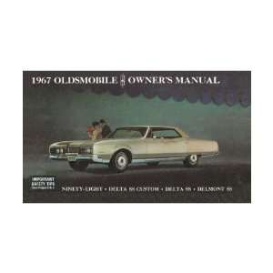 1967 OLDSMOBILE 98 DELTA 88 Owners Manual User Guide