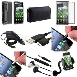 Bundle Case Charger Cable Stylus Headphone For LG P920 Thrill 4G