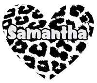 Personalized Zebra Stripe Heart Girls Name Vinyl Wall Decal Sticker