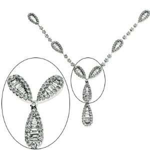 White Gold Diamond Necklace Jewelry