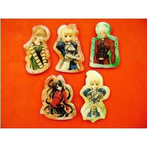 Fate/Stay Night 5pc Pin Set   Saber Rin Archer Taiga