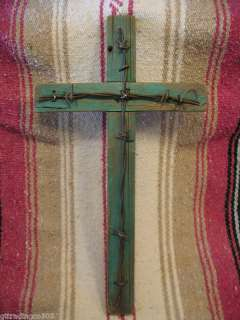Cross, Rustic Wooden w/Barbed Wire, 9 x 16   No. 01
