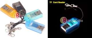 Mini USB 2.0 Micro SD TF Memory Card Reader Key Chain