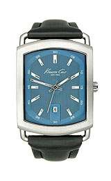 Gents Blue Dial Leather Band Kenneth Cole Watch KC1703