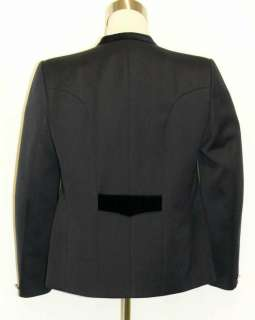 NAVY BLUE Men WOOL German Dinner Suit Jacket Coat/46 L