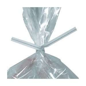 BOXPBT6W   3/16 x 6 White Paper Poly Bag Ties