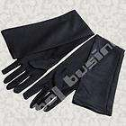 Pair Black Long Gloves Fancy Dress Evening Party Goth