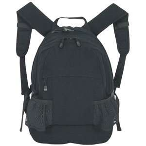 Black Padded Yucatan Style Backpack   18 x 13 x 7, School/Travel Bag
