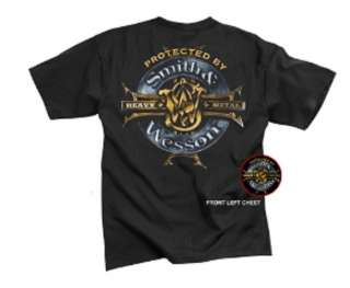 SMITH & WESSON HEAVY METAL T SHIRT OFFICIALLY LICENSED DESIGN BY SMITH