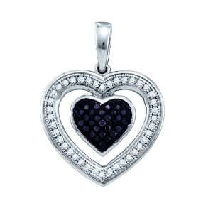 10k White Gold 0.20 Dwt Diamond Micro Pave Set Heart