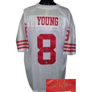 Steve Young Autographed/Hand Signed San Francisco 49ers Vintage Reebok