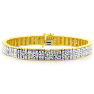 Carat Genuine Diamond 14k Gold Two Tone Bracelet