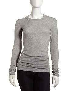 James Perse Fitted Scoop Neck Tee, Gray