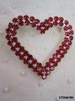 Swarovski Crystal Valentine Heart Pin Brooch
