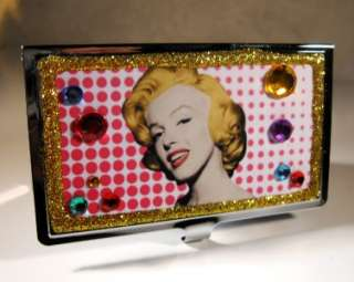 MARILYN MONROE CRYSTAL BUSINESS CREDIT CARD HOLDER CASE