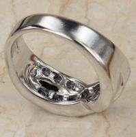 Circle Purple Amethyst Gemstones Jewelry Rings Size7 R178
