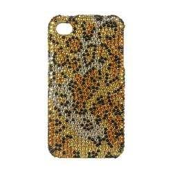 Premium Apple iPhone 4/ 4S Gold Cheetah Rhinestone Case