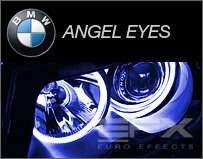 EUROEFFECTS 3W XENON BLUE BMW ANGEL EYE LED HEADLIGHT BULBS LIGHTS