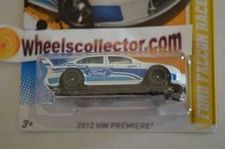 FORD FALCON RACE CAR white * 2012 Hot Wheels * Variation Lace Rims