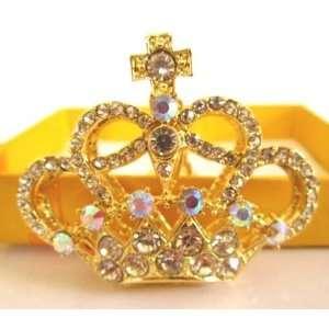 Charm Gold Crown Crystal Key Ring Rhinestone Keychain