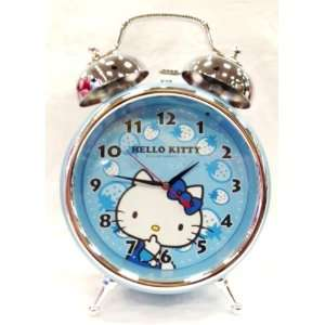 Hello Kitty Large Alarm Clock Blue   Approx 10.5 Tall