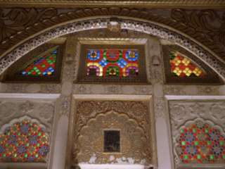 Original Old Stained Glass Windows and Raised Gilded Plaster Work