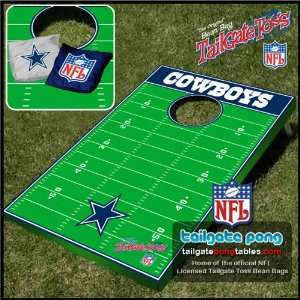 Dallas Cowboys NFL Tailgate Beanbag Toss Cornhole Game   FREE