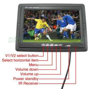 inch TFT CAR PORTABLE LCD COLOR REARVIEW MIRROR MONITOR FOR DVD