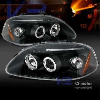 96 98 HONDA CIVIC LED JDM BLACK PROJECTOR HEADLIGHTS