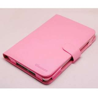 PINK PU LEATHER CASE Cover FOR  Nook Color ebook reader