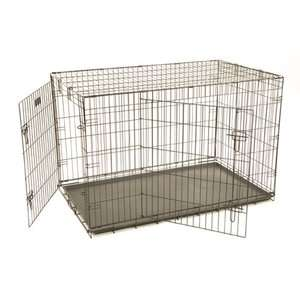 Precision Pet Products ProValu Two Door Dog Crate in Black Dogs