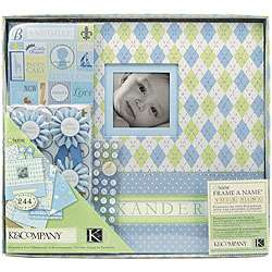 Company Little House Baby Boy 12x12 Postbound Scrapbook Kit