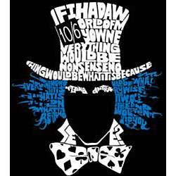 Los Angeles Pop Art Womens Mad Hatter T shirt