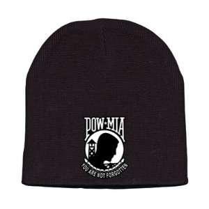 Hot Leathers POW/MIA Knit Cap (Black) Automotive