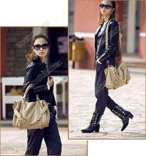 New Korean Fashion Womens Handbag Purses Shoulder Bags Tote PU