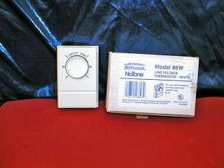 NuTone Broan Wall Thermostat Model 86W NEW 026715038039