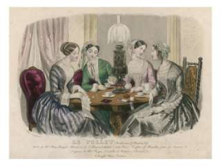 Ladies Sewing 1850s Giclee Print at AllPosters