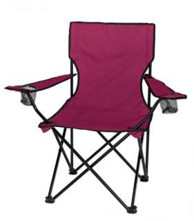 Deluxe Folding CRIMSON Tailgate Chair & HD Carry Bag