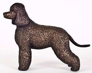 IRISH WATER SPANIEL COLD CAST BRONZE FIGURINE 5 LONG