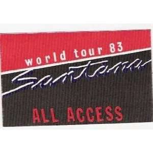 Santana World Tour Original Backstage Pass 1983