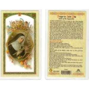 Saint/St. Rita Holy Prayer Card Patron of Difficult