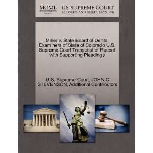 Miller v. State Board of Dental Examiners of State of Colorado