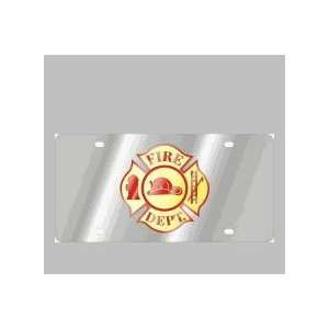 Stainless Style License Plates Fire Department Cross Automotive