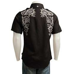 English Laundry Mens Embroidered Shirt