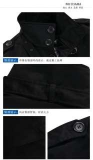 NWT Cool Mens Slim Long Trench Jacket Coat L XXXL Xmas Gift J27