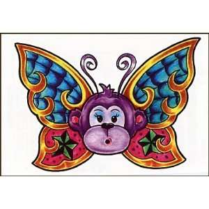 Monkey Butterfly Temporaray Tattoo: Toys & Games