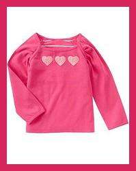 NWT Gymboree TRES CHIC Pink HEART Top SHIRT 5
