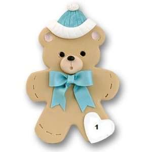 Baby Boy Bear Personalized Ornament