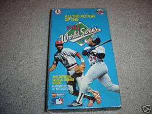 Official 1987 World Series VHS Minnesota Twins & Cards 086162536434