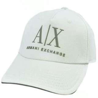 AX Armani Exchange Italian Fashion Designer Brand White Gray Flex Fit